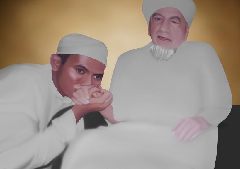 Dr Habib Segaf Baharun bersama wali qutub Al Habib Abdul Qodir bin Ahmad Assegaf