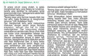 Habib Segaf Baharun Buletin Al Busyro 18 Oktober